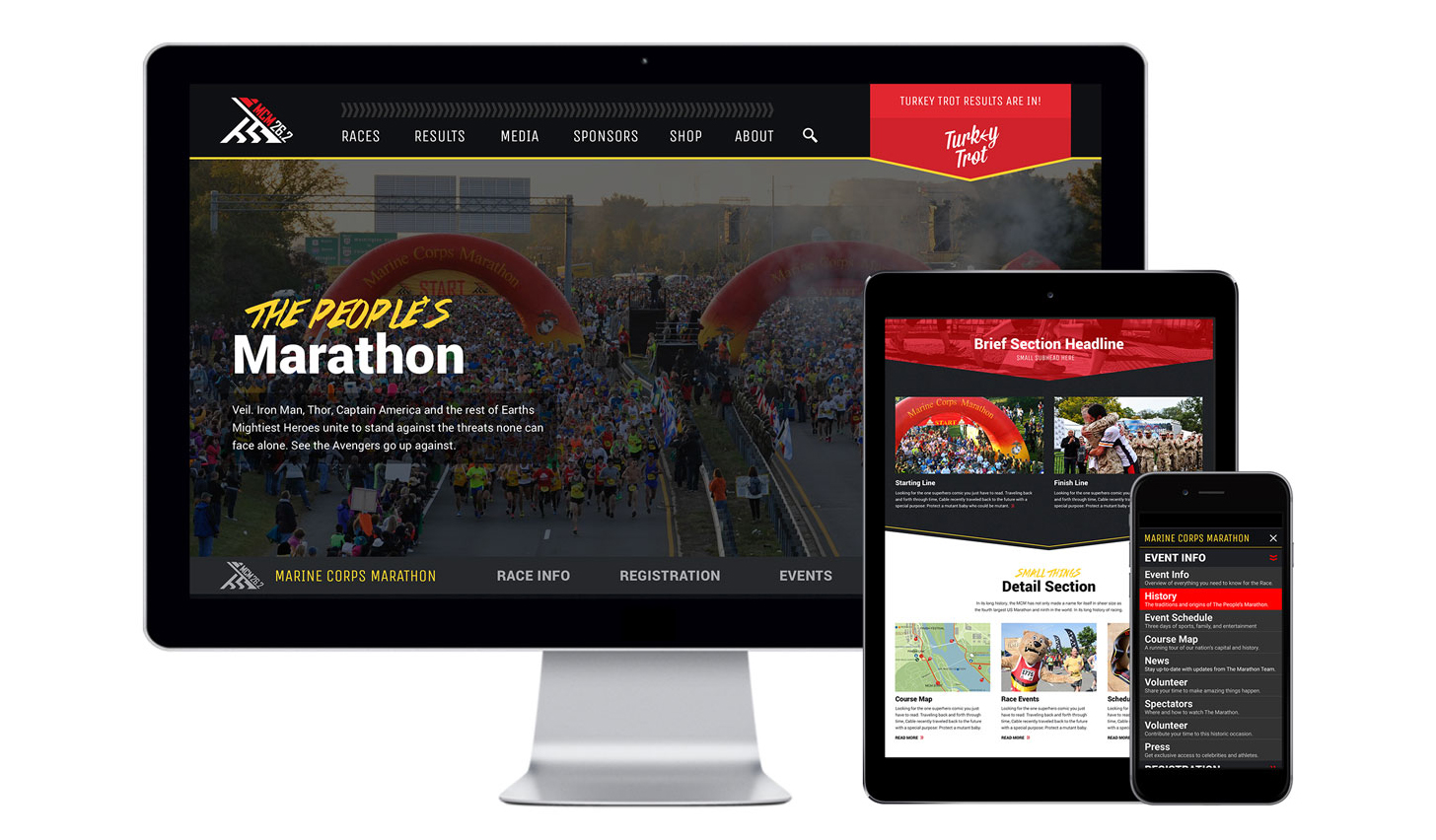 nclud launches Marine Corps Marathon website