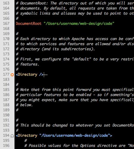 httpd.conf code screenshot