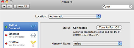 System Preferences Network AirPort